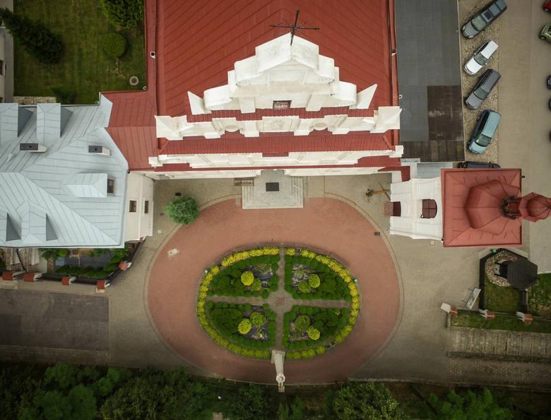 Kalinowszczyzna na zdjęciach z drona: kościół pod wezwaniem świętej Agnieszki w Lublinie