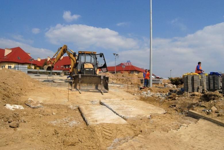 na budowie autostrady A4.