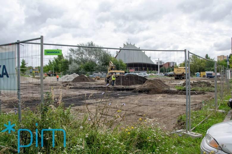 Prace przy budowie Parku Rataje