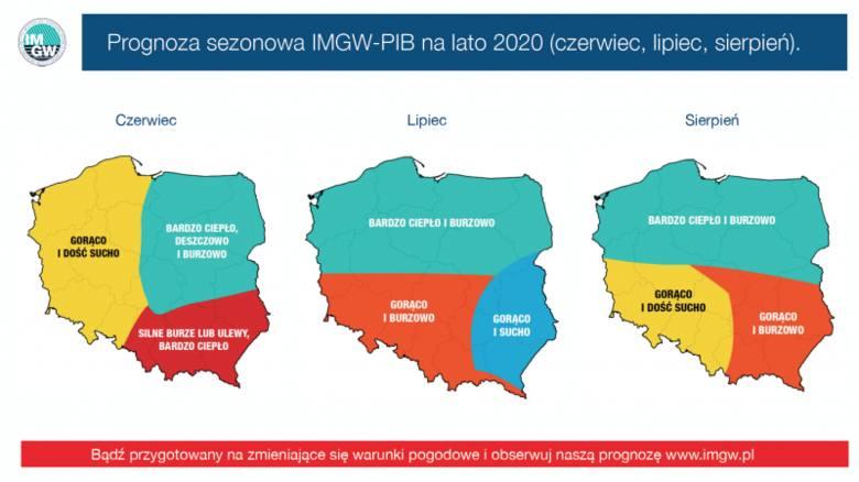 IMGW wydało przewidywaną prognozę pogody na sierpień 2020. Jakich temperatur możemy się spodziewać?