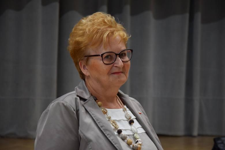 Uhonorowanie Lubuszan podczas sesji Sejmiku Województwa Lubuskiego, 5 września 2019 r., Zielona Góra.Na zdjęciu Grażyna Dereń z Lubiechni Wielkiej