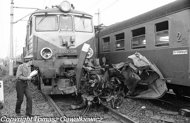 Katastrofa na przejeździe kolejowym w Bytomiu Odrzańskim