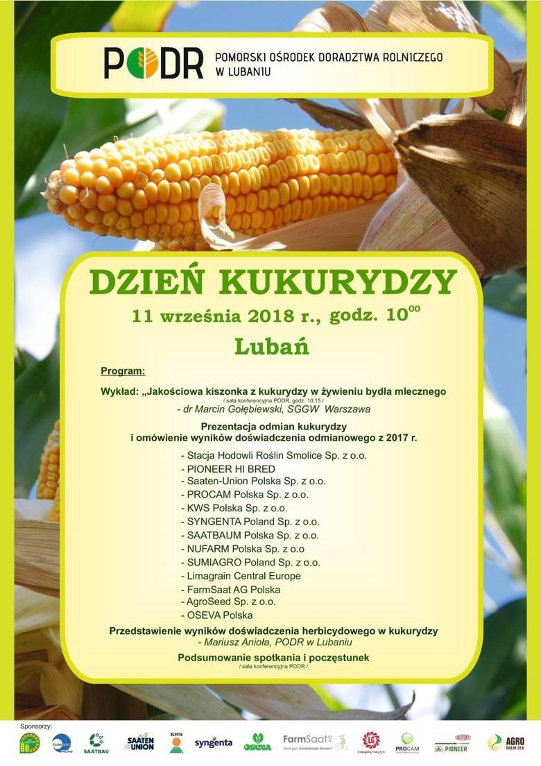 11 września Dzień Kukurydzy w Lubaniu. To okazja, aby poznać nowe trendy w uprawie