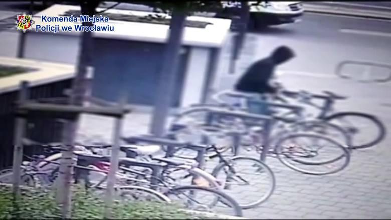 Tak kradną rowery we Wrocławiu. Złodzieja nagrał monitoring [FILM]