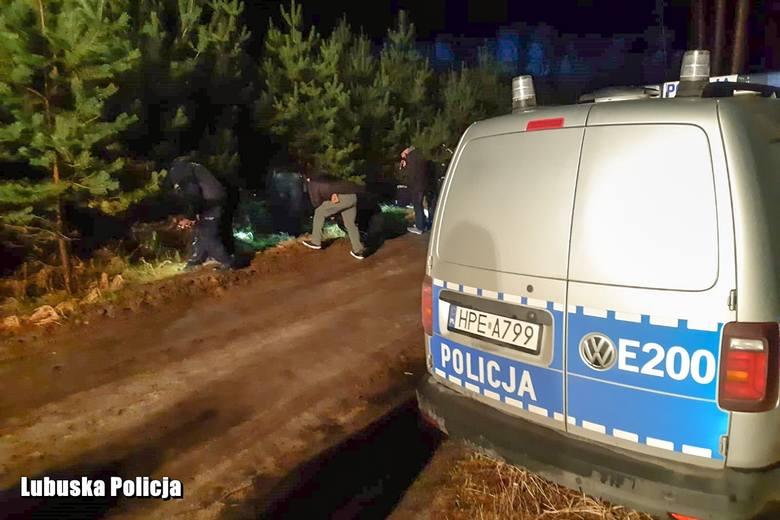 potrącenie policjantów, obława, Klępsk, ranni policjanci w Klępsku