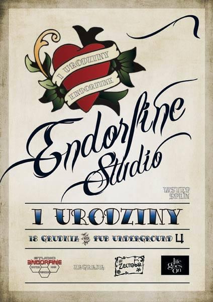 Koncertowe urodziny Endorfine Studio odbędą się w rzeszowskim pubie Underground.