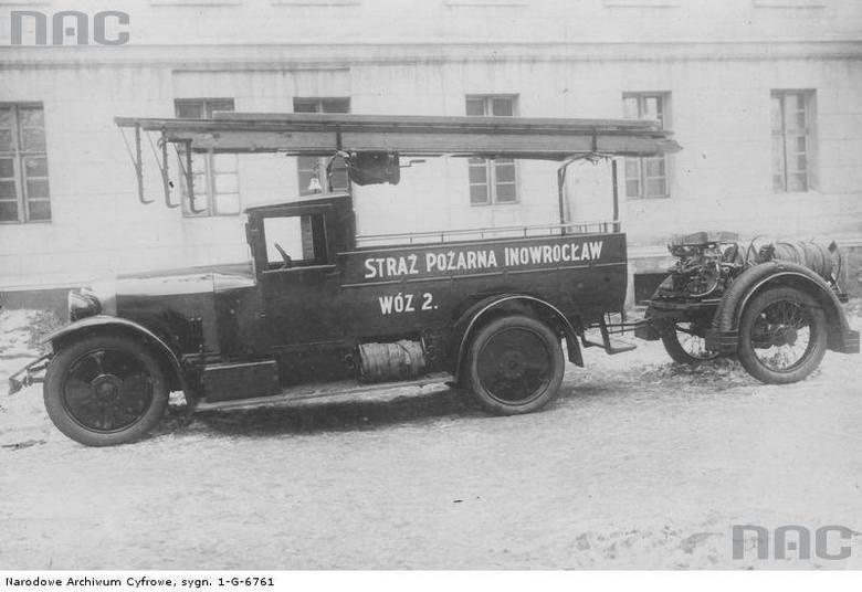 Samochód strażacki w Inowrocławiu, okres międzywojenny