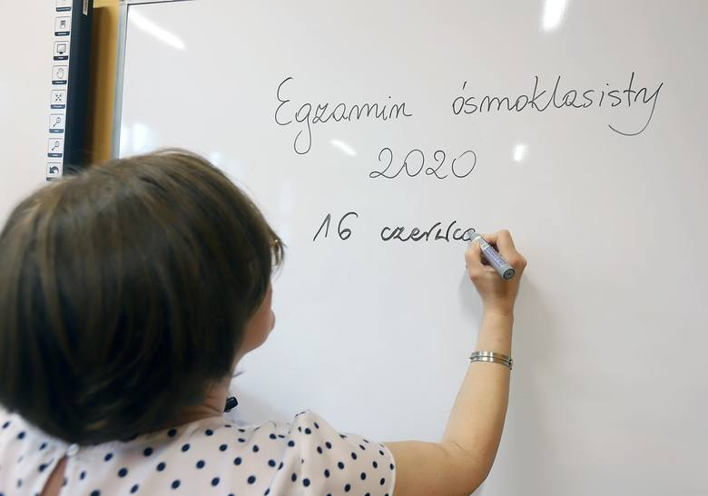 Szkoła Podstawowa nr 26 w Łodzi - ostatnie przygotowania przed egzaminem ósmoklasisty 2020.