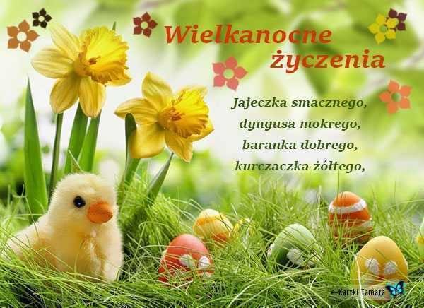 życzenia Wielkanocne Wesołych świąt Najpiękniejsze