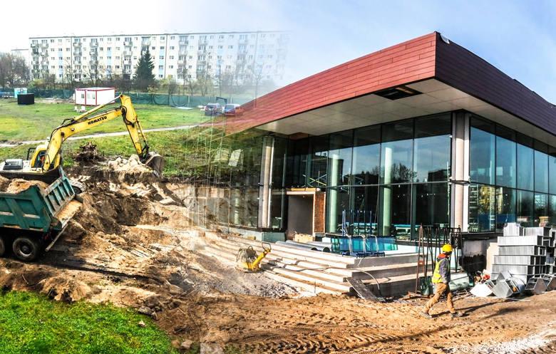 Na Kapuściskach w Bydgoszczy - tuż przy V Liceum Ogólnokształcącym powstaje basen. Na inwestycję czekają nie tylko mieszkańcy Kapuścisk, ale i pobliskich