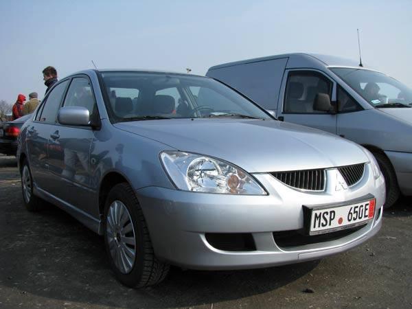 Mitsubishi LancerSilnik 1,6 benzyna, przebieg 35000 km. Rok produkcji 2004. Wyposazenie: klimatyzacja, ABS, 8 poduszek powietrznych, centralny zamek,