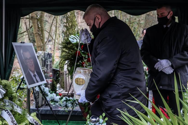 Pogrzeb Piotra Świąca w Gdańskum, 14.03.2021 r. Dziennikarz zginął w wypadku drogowym 5.03.2021 r.