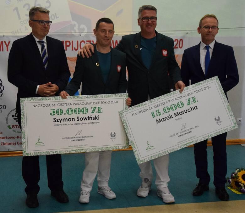 Drzonków, 20 września 2021. Spotkanie z uczestnikami igrzysk paraolimpijskich w Tokio, zawodnikami Startu Zielona Góra