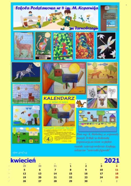 Tarnobrzeg. Uczniowie wykonali wyjątkowy kalendarz na pomoc zwierzakom ze schroniska w Machowie. Licytacja trwa