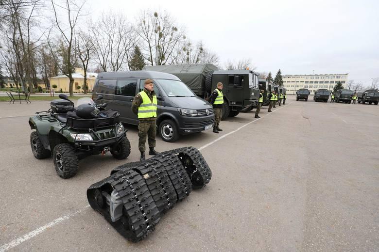 1 Podlaska Brygada Terytorialna pokazała sprzęt, który wykorzysta w przypadku np. klęski żywiołowej