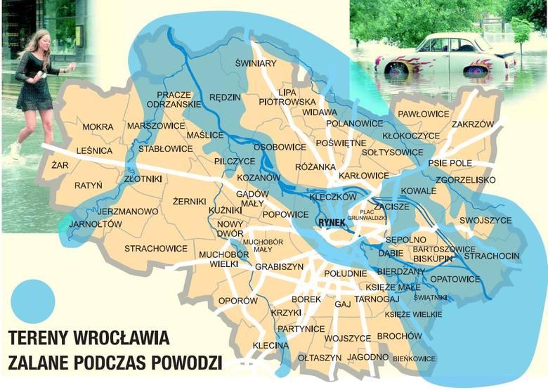 12 lipca 1997 we Wrocławiu. Tak zalane było miasto