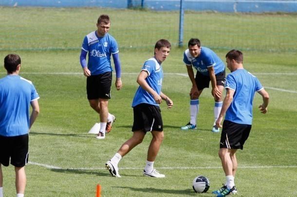 Piłkarze Lecha podczas treningu