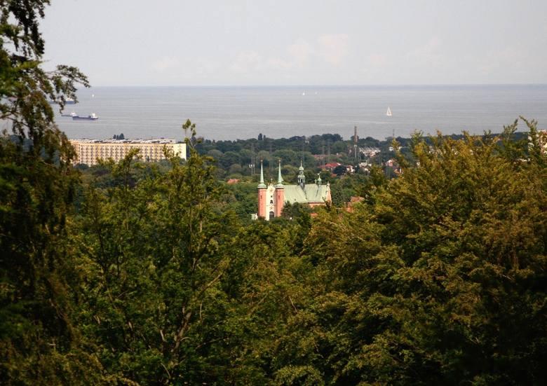 """Widok """"Andrzeja"""" znajduje się w Dolinie Szwabego w Oliwie na wzgórzu zwanym Górą Przyjaciół, ponad ul. Bytowską"""