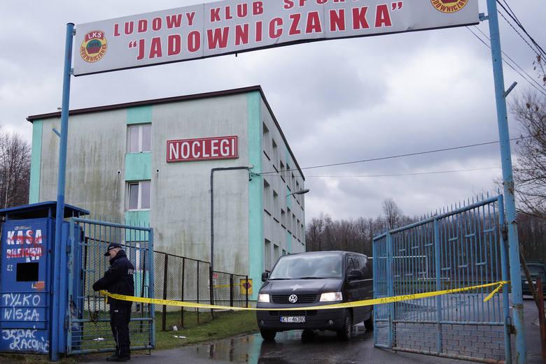 Hostel w Jadownikach, gdzie doszło do zbrodni