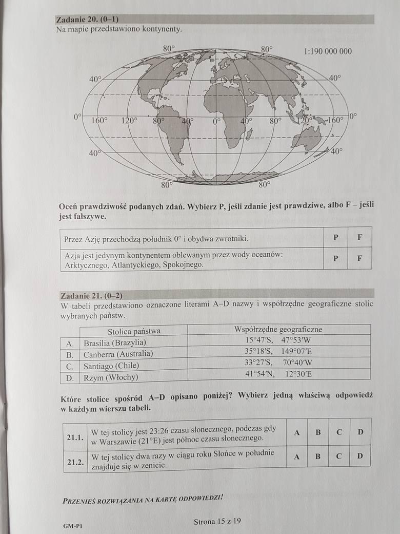 Egzamin gimnazjalny 2017 [PRZYRODA] - odpowiedzi - arkusze - pytania