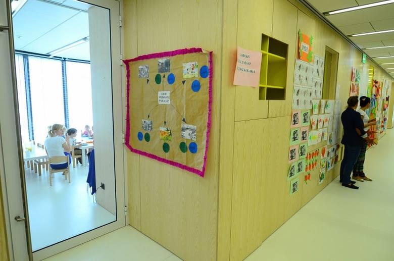 Przedszkole na parterze, do którego obecnie uczęszcza 48 dzieci pracowników Pixela.