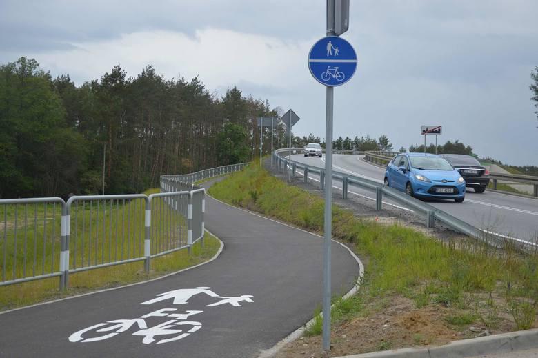 Ścieżka rowerowa wzdłuż ul. Kętrzyńskiej w Zielonej Górze