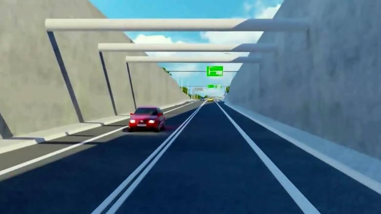 Wjazd do planowanego tunelu.