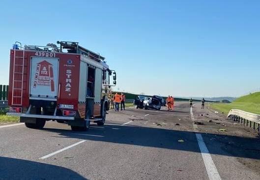 Do wypadku doszło na autostradzie A4, w okolicach Jarosławia.