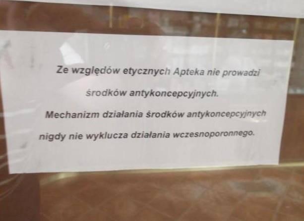 Ruch Kobiet z Martą Marską-Błahy na czele złożył w poniedziałek w Wojewódzkim Inspektoracie Farmaceutycznym pismo z prośbą o sprawdzenie apteki w Ma