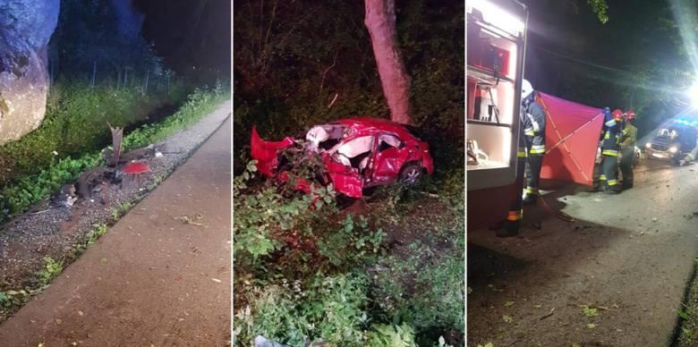 W nocy 5 lipca, około godziny 00:30 w miejscowości Ojców, gmina Skała (Złota Góra), doszło do tragicznego wypadku, w którym udział brał jeden samochód