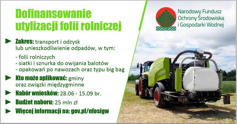 Gospodarstwa toną w folii rolniczej. Można załapać się na dofinansowanie utylizacji - rusza 2. edycja programu NFOŚiGW