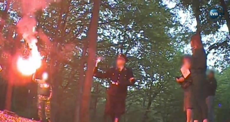 W lasie niedaleko Wodzisławia Śląskiego neonaziści świętują 128. urodziny Adolfa Hitlera