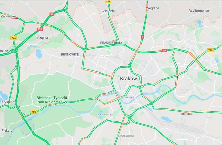 Poranek Na Krakowskich Drogach Zobacz Mape Polskatimes Pl