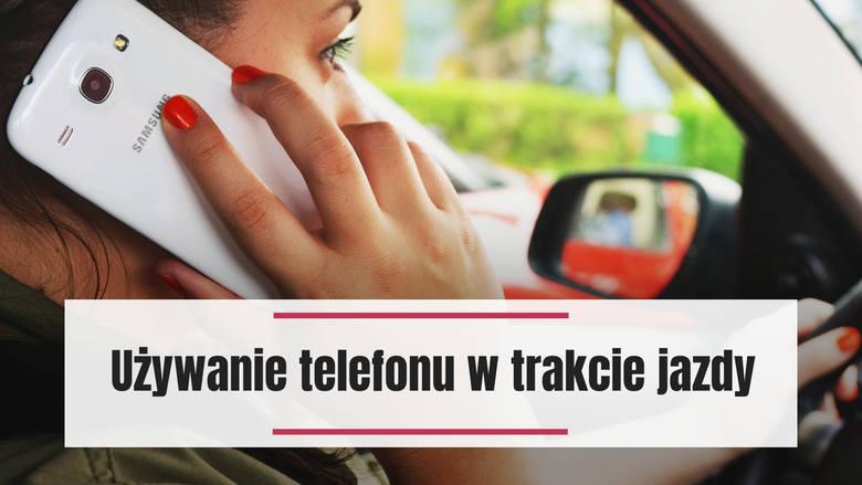 Zarówno rozmowa przez telefon, jak i pisanie SMS-ów w trakcie jazdy są niewskazane. Jeśli musisz skorzystać z telefonu, ponieważ jest to część Twojej