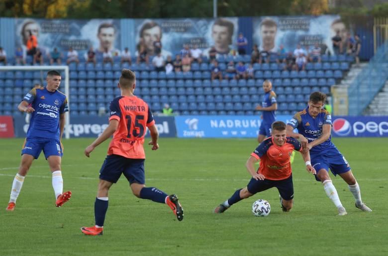 W pierwszym meczu Ruchu i Warty w Chorzowie Niebiescy wygrali 3:1  Zobacz kolejne zdjęcia. Przesuwaj zdjęcia w prawo - naciśnij strzałkę lub przycisk