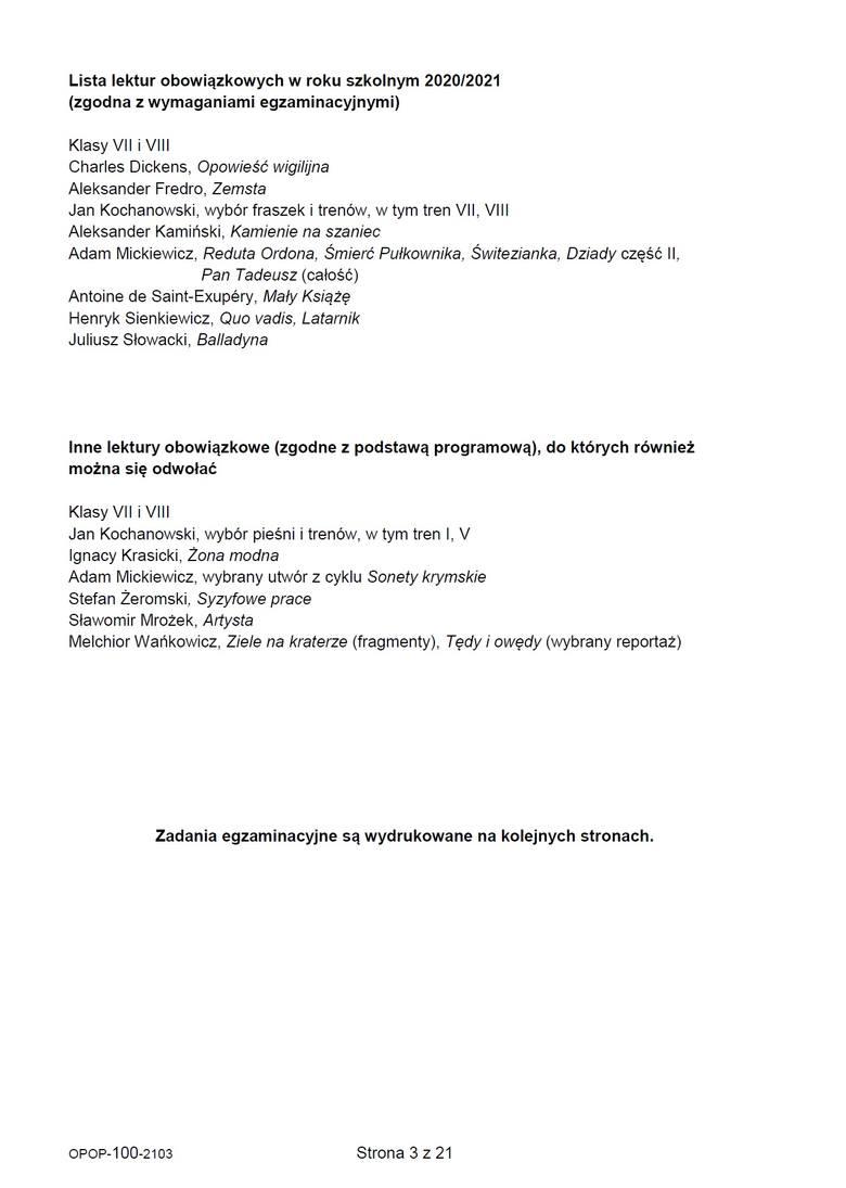 """Próbny egzamin ósmoklasisty 2021 z polskiego. Pojawiły się m.in. pytania o """"Pana Tadeusza"""". Co o teście sądzą uczniowie? Opinie i komenarz"""