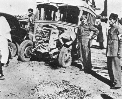 Arabski autobus zaatakowany przez żydowskich terrorystów (1947 r.)