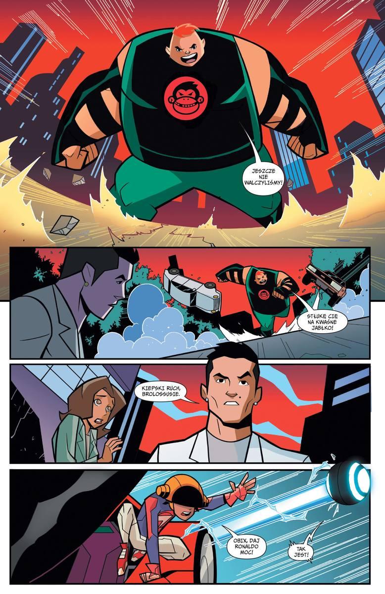 Cristiano Ronaldo został... superbohaterem. Zobacz komiks Striker Force 7 z piłkarzem Juventusu!