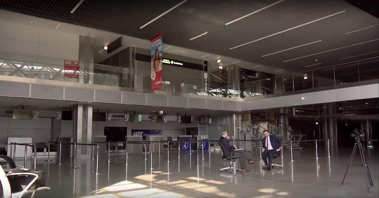 Lotnisko w Balicach w trakcie nagrywanie naszego programu