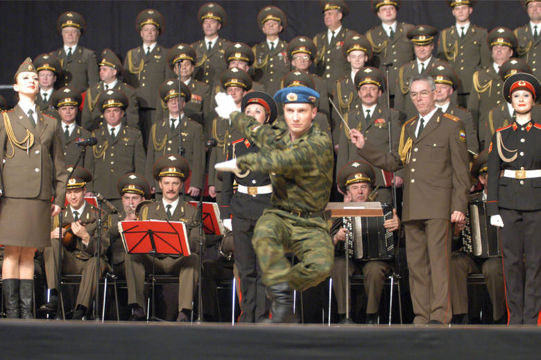 Występ Chóru Aleksandrowa w Zielonej Górze, w marcu 2005 r.