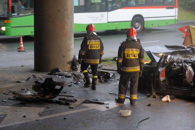 Wypadek BMW na ul. Diamentowej