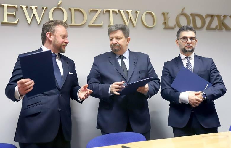 W piątek 15 lutego w Łodzi Łukasz Szumowski,minister zdrowia, Grzegorz Schreiber, marszałek województwa i prof. Maciej Banach, dyrektor Instytutu Centrum