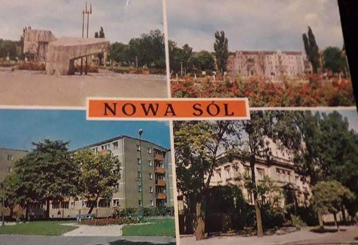 """Pocztówki z Nowej Soli, które na Facebooku, w grupie """"Nowa Sól wczoraj"""" opublikowali mieszkańcy miasta. To rarytasy. Teraz takich pocztówek już nie ma."""