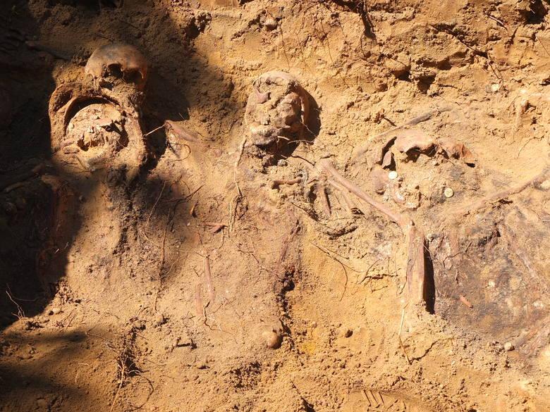 Przedstawiciele Pracowni Badań Historycznych i Archeologicznych Pomost z Poznania zbadali dokładnie dwie mogiły. Znaleźli nie tylko kości, ale także pozostałości mundurów.