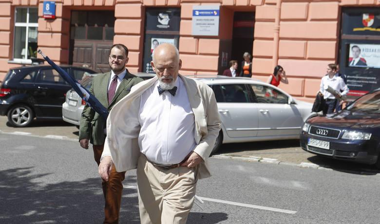 Przed druga turą wyborów prezydenckich Rzeszów odwiedził Janusz Korwin-Mikke.