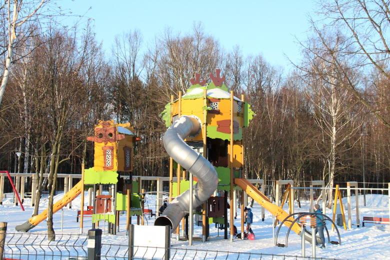 Zajrzeliśmy zimową porą do parku im. Jacka Kuronia w sosnowieckim Kazimierzu. Biały puch przykrył drzewa i alejki, ale niska temperatura nie przeszkadza