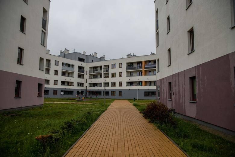 Tak wygląda osiedle w okolicach ul. Bema, które zostało wybudowane w ostatnich latach. Kolejne bloki, przynajmniej na razie nie, powstaną.