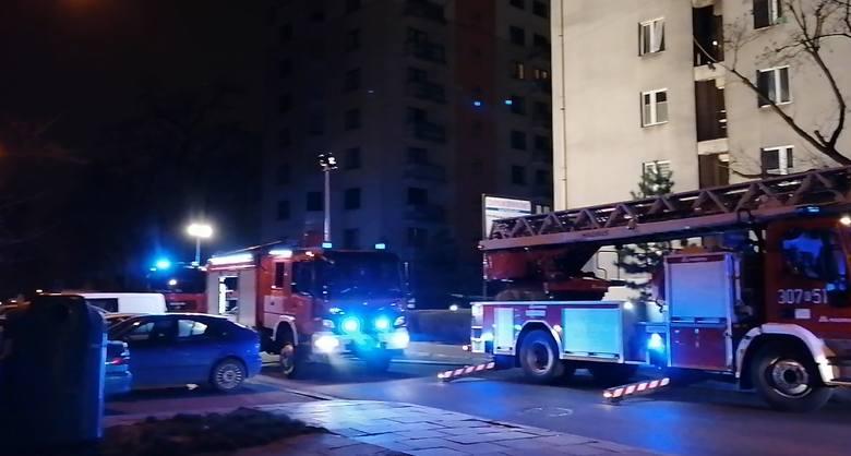 Kraków. Pożar przy ulicy Wileńskiej [WIDEO, ZDJĘCIA]
