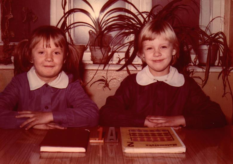 Beata (na zdjęciu z prawej) uczyła się tych przedmiotów, które ją interesowały