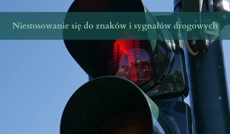 Niestosowanie się do znaków i sygnałów drogowych8 punktów karnych: - Niezastosowanie się, w celu uniknięcia kontroli, do sygnału osoby uprawnionej do